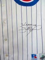 Sammy Sosa autographed Chicago Cubs authentic game model jersey inscribed Slamming #5/21
