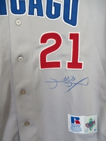 Sammy Sosa autographed Chicago Cubs authentic game model road jersey (TSC)