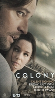 Sarah Wayne Callies & Josh Holloway autographed The Colony 2015 Comic-Con promo 8x11 photo card