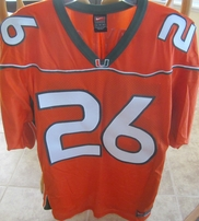Sean Taylor Miami Hurricanes 2001-2003 original authentic Nike double stitched orange jersey NEW