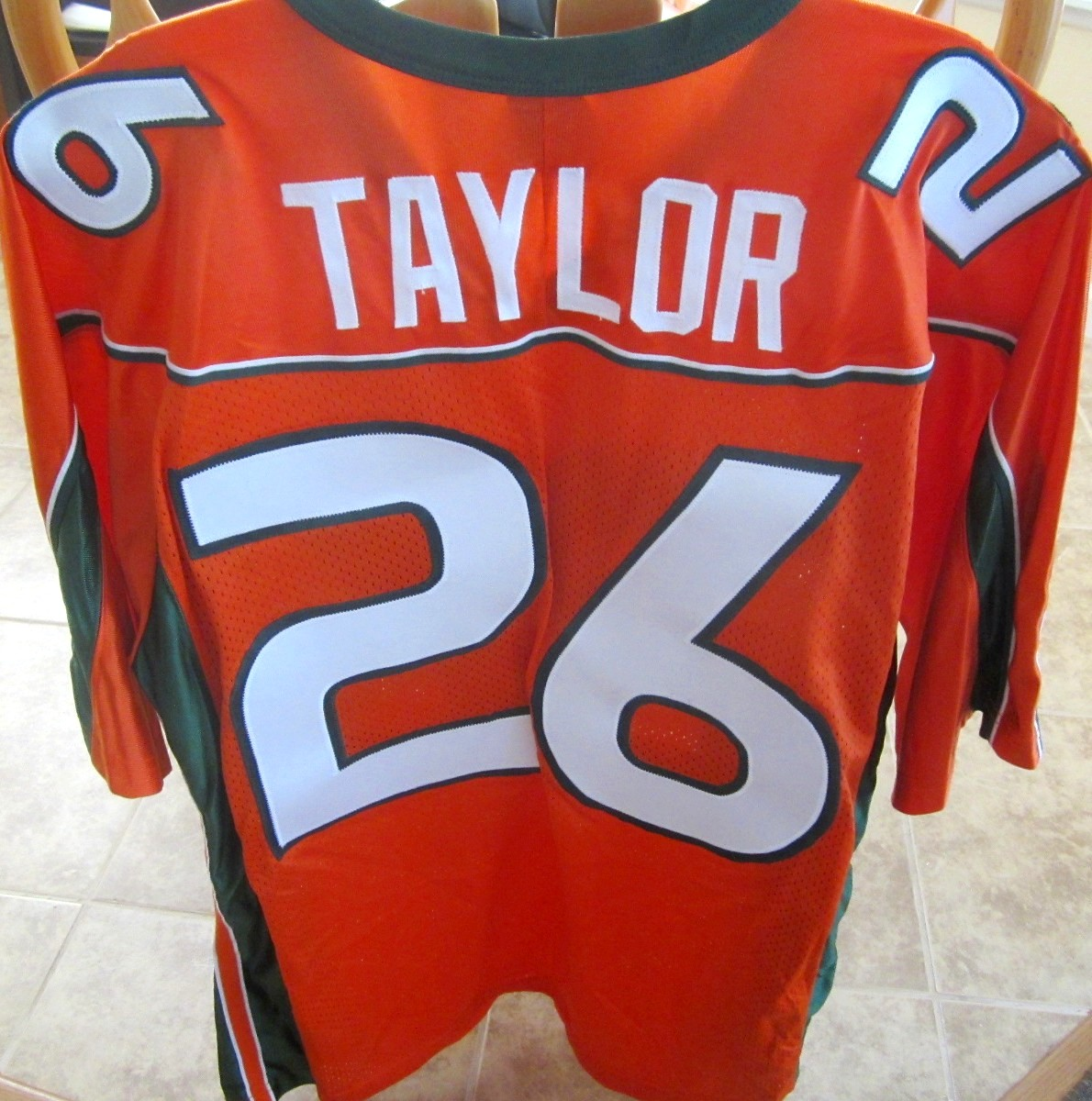 Alabama Crimson Tide Basketball Jersey >> Sean Taylor Miami Hurricanes 2001-2003 original authentic Nike double stitched orange jersey NEW ...