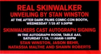 Skinwalkers cast autographed full size 27x40 inch movie poster (Natassia Malthe Shawn Roberts Stan Winston)
