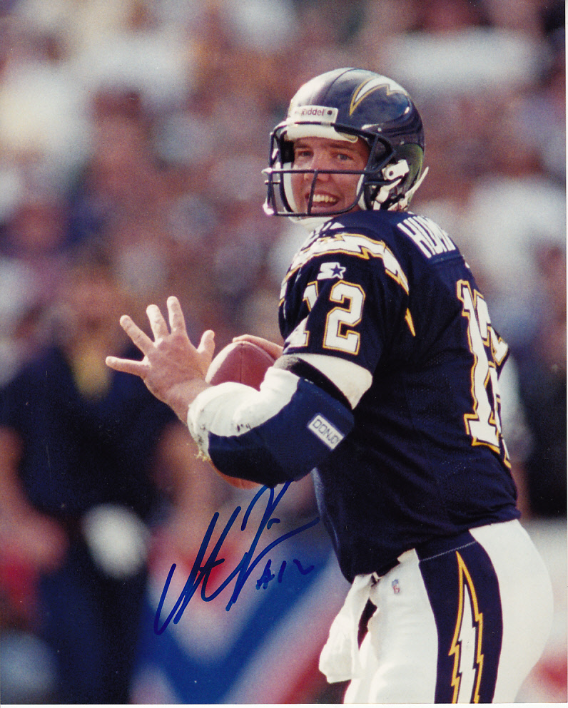 Stan Humphries Autographed San Diego Chargers 8x10 Photo