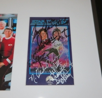 Star Trek IV The Voyage Home movie cast autographed video cover framed (James Doohan Leonard Nimoy William Shatner)