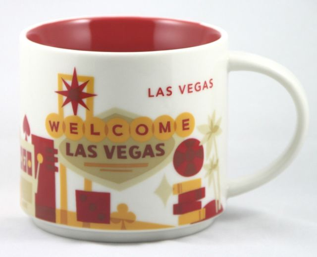 Starbucks 2017 You Are Here Collection Las Vegas 14 Ounce Collector Coffee Mug New
