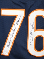 Steve McMichael autographed Chicago Bears stitched jersey inscribed S.B. XX Champion (JSA)