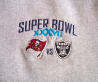 Super Bowl 37 embroidered sweatshirt MEDIUM NEW (Tampa Bay Buccaneers win)