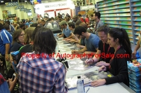 Teen Wolf cast autographed 2014 Comic-Con poster (Tyler Hoechlin Tyler Posey Holland Roden)