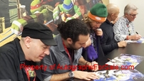 Teenage Mutant Ninja Turtles cast autographed 2013 poster (Greg Cipes Hoon Lee Rob Paulsen)