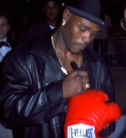 Terry Norris autographed Everlast boxing glove