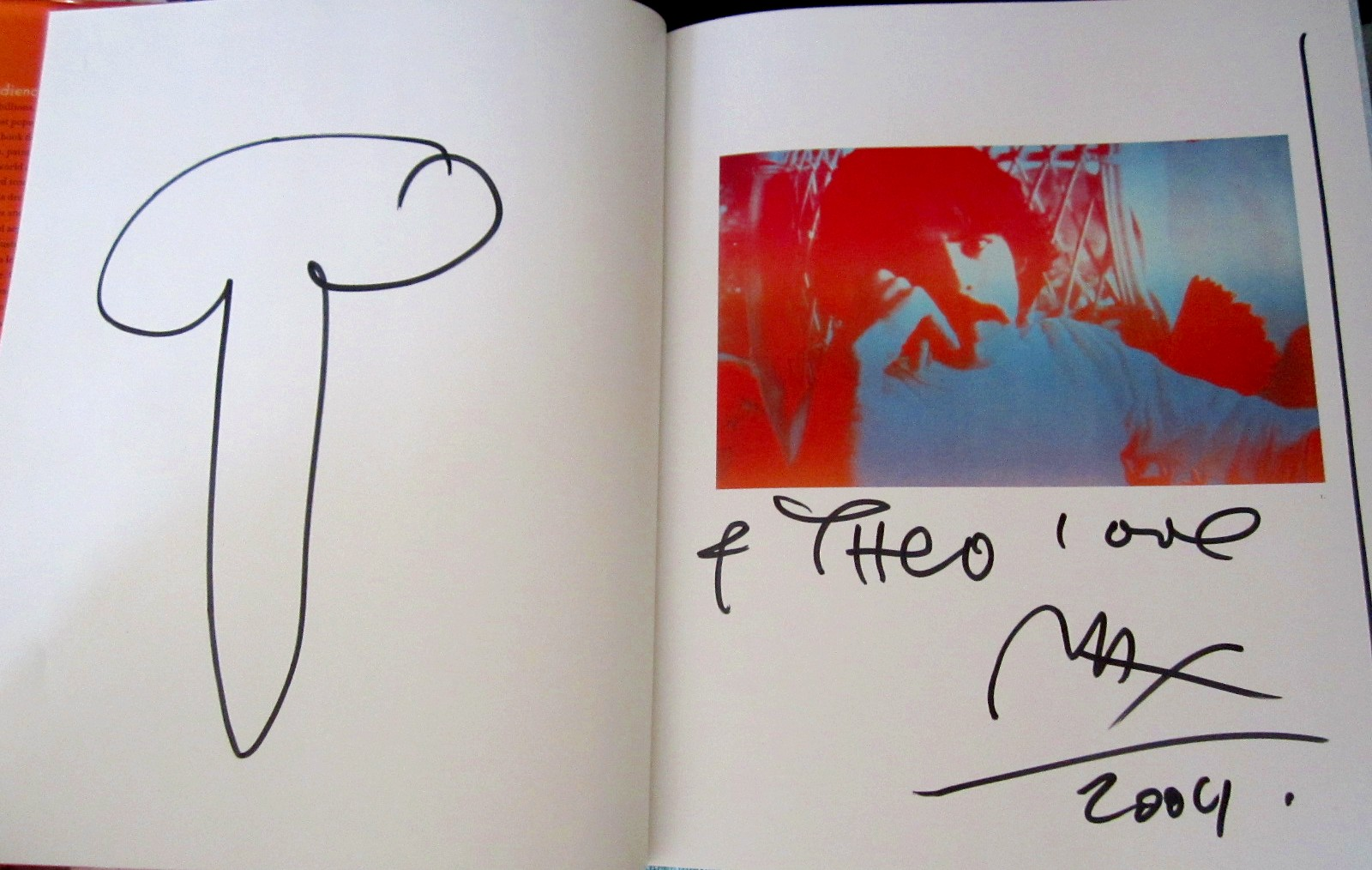 Peter max autographed doodled coffee table art book peter max autographed doodled coffee table art book personalized geotapseo Choice Image