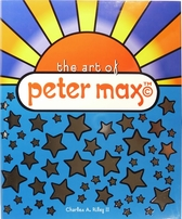 Peter Max autographed & doodled coffee table art book (personalized)