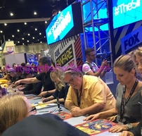 The Simpsons cast autographed 2017 Comic-Con poster (Matt Groening Nancy Cartwright Joe Mantegna)