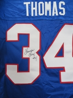 Thurman Thomas autographed Buffalo Bills Nike authentic game model jersey