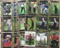 Tiger Woods lot of 51 assorted 2001 or 2002 Upper Deck and SP Golf cards including inserts