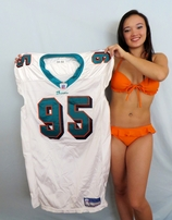 Tim Bowens 2004 Miami Dolphins game used or game worn Reebok jersey