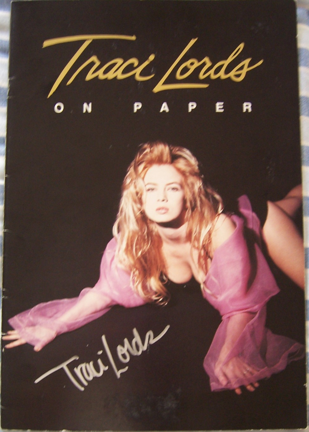 Traci Lords Autographed On Paper Sexy 11x16 Inch Poster