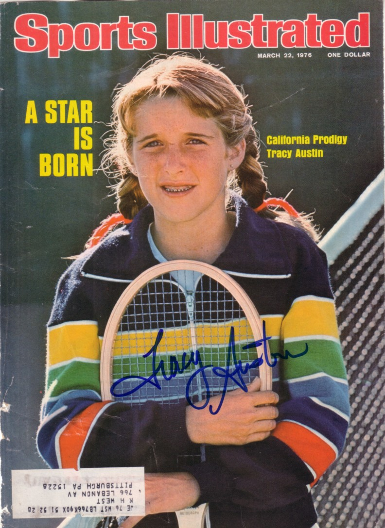 Tracy Austin autographed 1976 Sports Illustrated cover WTA Tour