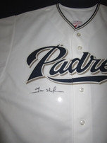 Trevor Hoffman autographed San Diego Padres authentic Majestic final season jersey framed