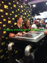 Tyler Posey Holland Roden Jeff Davis autographed Teen Wolf 2016 Comic-Con poster