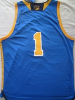 UCLA Bruins authentic Adidas basketball blue replica #1 jersey with National Champions collar NEW WITH TAGS
