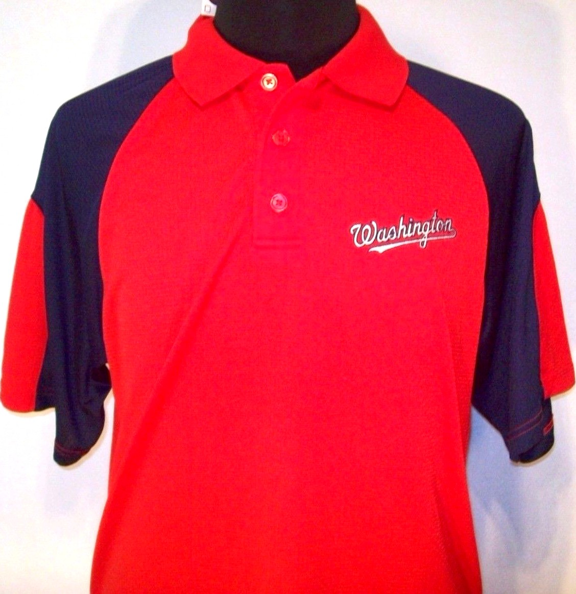 Washington Nationals Blue And Red Golf Or Polo Shirt New