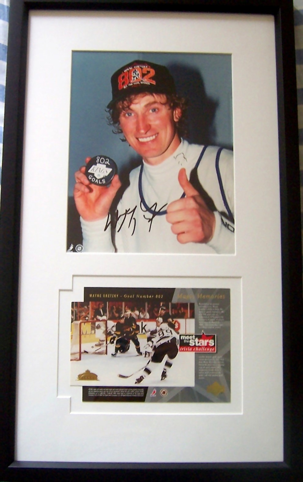 Wayne Gretzky autographed Goal 802 8x10 Los Angeles Kings photo framed with  commemorative card 11afeec1b