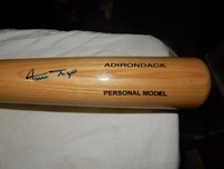 Willie Mays autographed Adirondack 34 inch bat (Score Board)