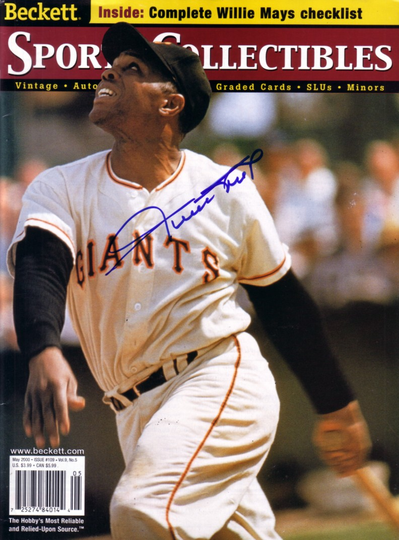 Willie Mays Autographed San Francisco Giants Beckett
