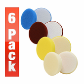 3 inch Buff and Shine Uro-Tec Foam Pads - 6 Pack <font color=red> Choose Your Pads! </font>