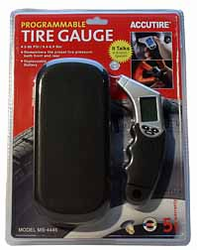 Accutire Talking Programmable Tire Pressure Gauge
