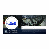 Autopia Car Care Gift Certificate $250