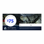 Autopia Car Care Gift Certificate $75