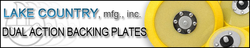 Backing Plates for Dual Action Polishers by Lake Country