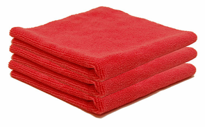Crimson Red Edgeless Polishing Cloth- 3 Pack
