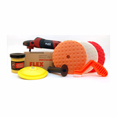 FLEX PE14-2-150 Rotary Polisher Starter Kit <font color=red><b>FREE BONUS</font></b>