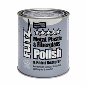 Flitz Paste Metal Polish, Fiberglass & Paint Restorer 2lb. Can