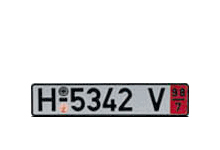 German Zoll License Plate