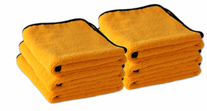 Gold Plush Microfiber Towel, 16 x 24, 6 Pack