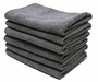 Grey All Purpose Microfiber Towels- 6 Pack