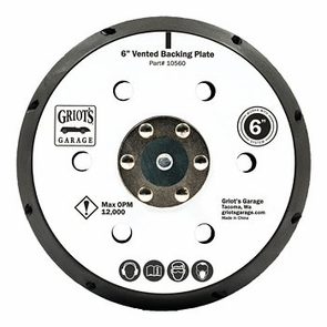Griots Garage 6 Inch Vented Orbital Backing Plate