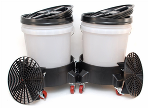 Grit Guard Dual Bucket Washing System - CLEAR