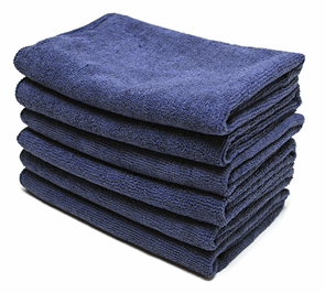 Indigo All Purpose Microfiber Towels- 6 Pack