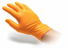 Large Orange Heavy Duty Nitrile Gloves, Box of 100