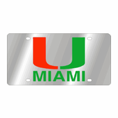 Miami Hurricanes NCAA Team License Plate