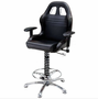 PitStop Furniture Crew Chief Bar Chair-BLACK