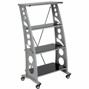 PitStop Furniture Chicane Bookcase-BLACK
