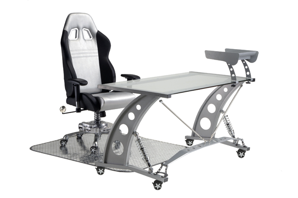 Desks & Tables Home & Garden Spoiler Fixing Prices According To Quality Of Products Pitstop Gt Spoiler Desk Red Glass Top