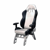 Pitstop GT Receiver Office Chair - SILVER