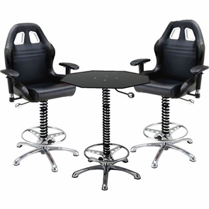 PitStop Crew Chief Café Set-BLACK table